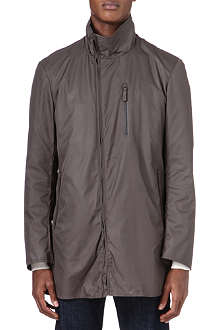 ARMANI Asymmetric zip raincoat