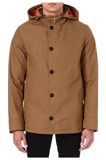 ARMANI Reefer coated cotton jacket