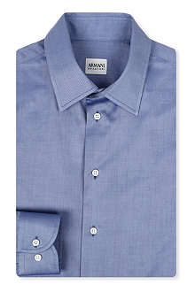 ARMANI Twill single-cuff shirt