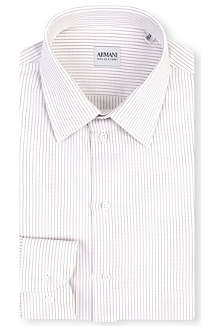 ARMANI Striped cotton shirt