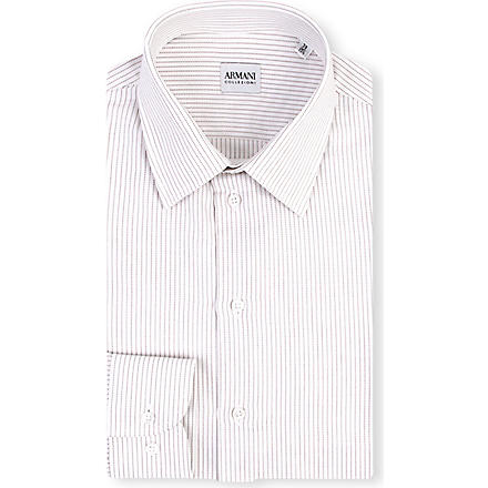 ARMANI Striped cotton shirt (Orange
