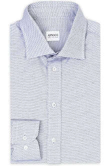 ARMANI Printed single-cuff shirt
