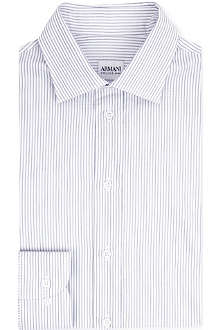 ARMANI Striped single-cuff shirt