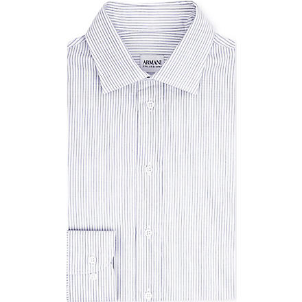 ARMANI Striped single-cuff shirt (Grey