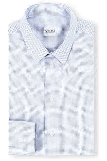 ARMANI Multi weave cotton shirt