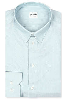 ARMANI Modern-fit Oxford shirt