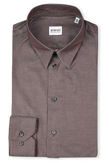 ARMANI Slim-fit plain shirt