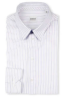 ARMANI Slim-fit striped shirt