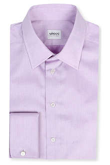 ARMANI Slim-fit cotton shirt