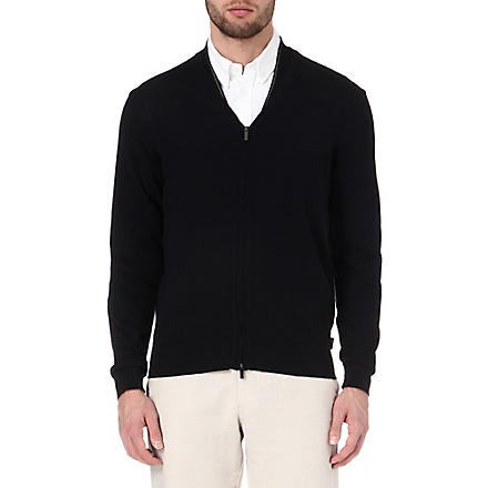 ARMANI V-neck cardigan (Navy