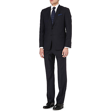ARMANI Micro dot wool suit (Navy