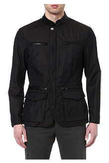 ARMANI Leather-trim jacket