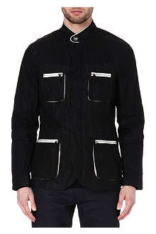 ARMANI Leather trim jacket
