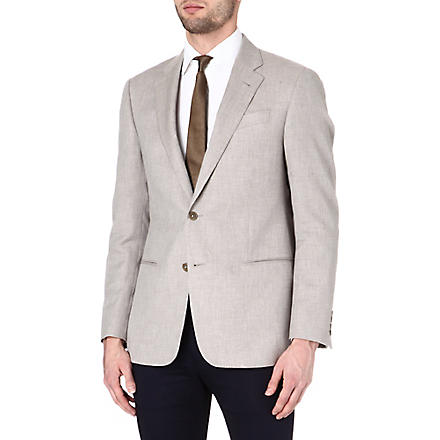 ARMANI Giorgio cotton and cashmere-blend jacket (Beige