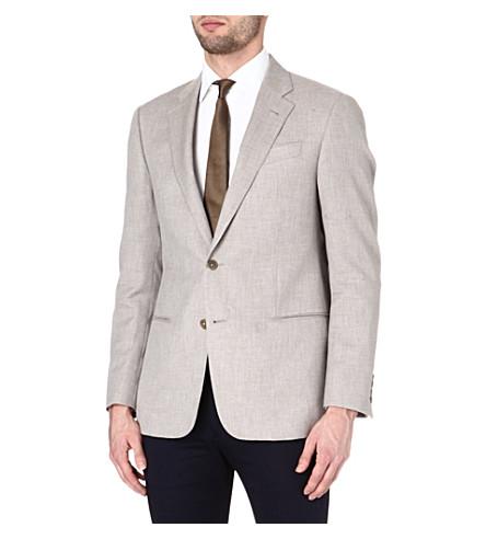 ARMANI Giorgio cotton and cashmere-blend jacket (Beige