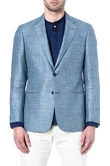 ARMANI Wool and linen-blend blazer