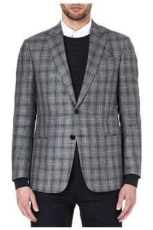 ARMANI Single-breasted checked blazer