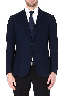ARMANI Textured-weave single-breasted blazer
