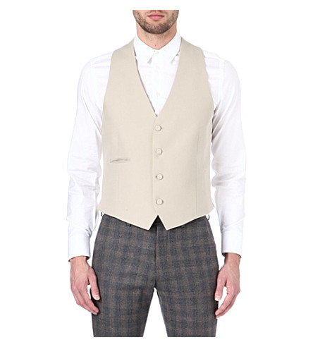 ARMANI Cotton waistcoat (Cream