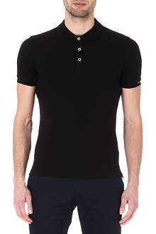 ARMANI Stretch-pique polo shirt