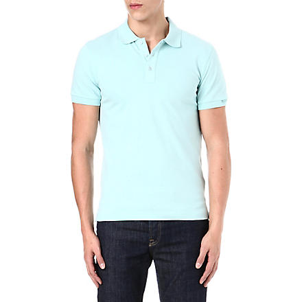 ARMANI Stretch-pique polo shirt (Mint