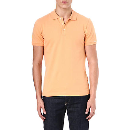 ARMANI Stretch-pique polo shirt (Tangerine