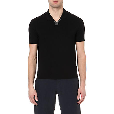 ARMANI Jersey polo shirt (Black