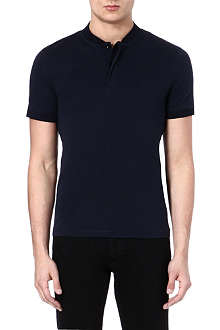 ARMANI Round collar polo shirt