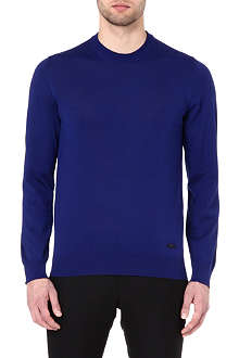 ARMANI Crew-neck wool jumper