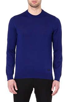 ARMANI Crew-neck wool jumper