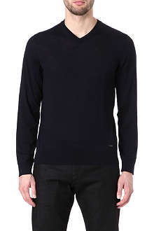 ARMANI V-neck wool jumper