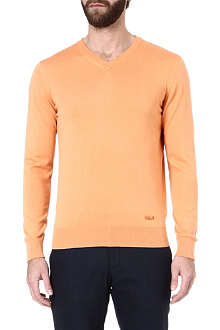 ARMANI V-neck knitted jumper
