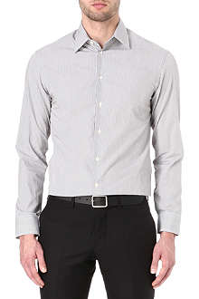 ARMANI Modern-fit fine-stripe shirt