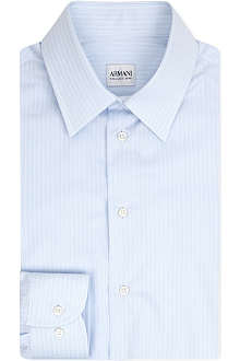 ARMANI Double pinstripe cotton shirt