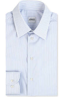 ARMANI Modern-fit striped shirt