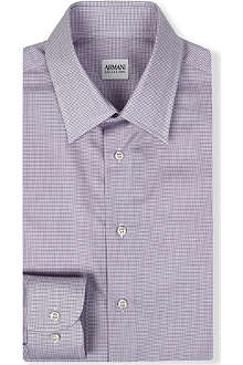 ARMANI Micro checked cotton shirt