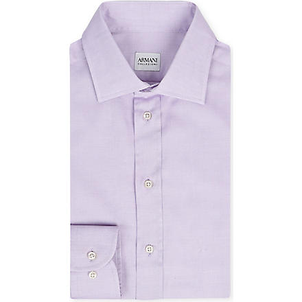 ARMANI Stretch-cotton shirt (Lilac