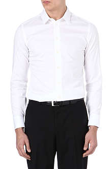 ARMANI Slim stretch-cotton shirt