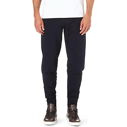 ARMANI Cotton-blend sweatpants (Navy