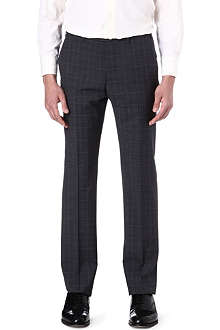 ARMANI Checked wool trousers