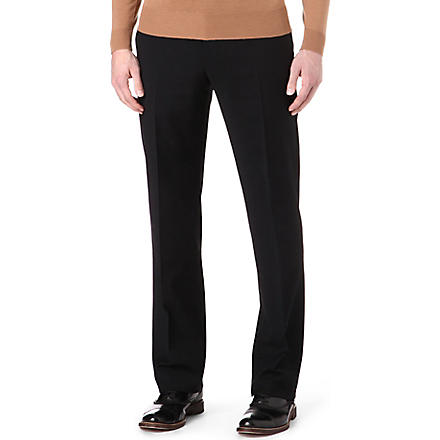 ARMANI Wool trousers (Black