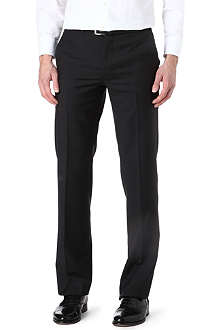 ARMANI Straight-leg wool trousers