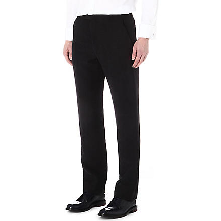 ARMANI Linen and silk trousers (Black