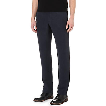 ARMANI Linen and silk trousers (Navy