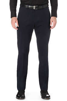ARMANI Tapered stretch-cotton trousers
