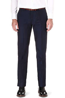 ARMANI Linen and cotton-blend trousers