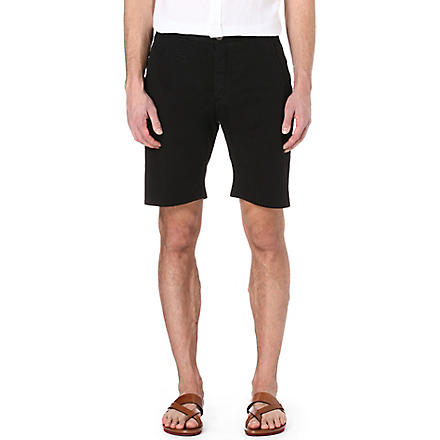 ARMANI Stretch-cotton shorts (Navy