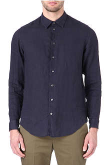 ARMANI Linen straight point collar shirt