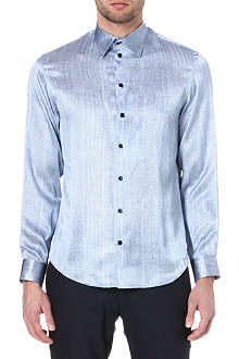 ARMANI Printed silk shirt