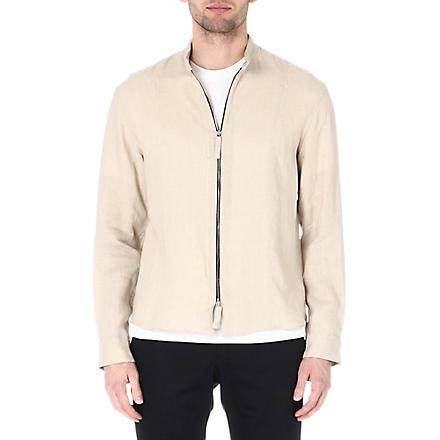 ARMANI Zip linen shirt (Beige